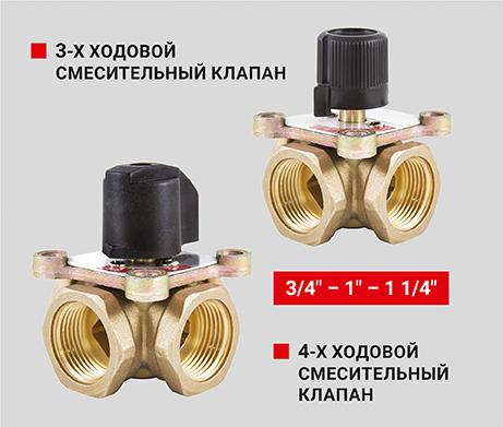 3-Х И 4-Х ходовые смесительные клапаны -  PF RVM 389, PF RVM 390