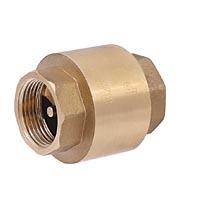 Клапан обратный пружинный осевой с латунным механизмом