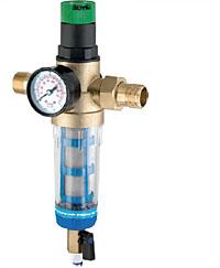 Фильтр промывной «TWIST TO CLEAN» с регулятором давления и манометром