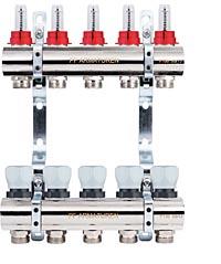 Коллекторная группа с расходомерами и термостатическими клапанами