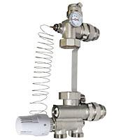 Насосно-смесительный узел с клапаном регулировки потока
